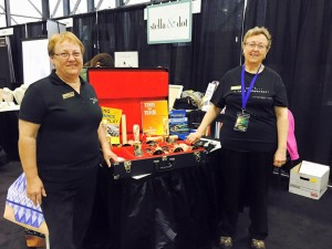 Camille Ream and Susan Galloway at their Handbells Etc booth